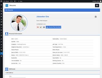 admin edit resume