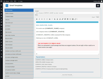 admin email templates