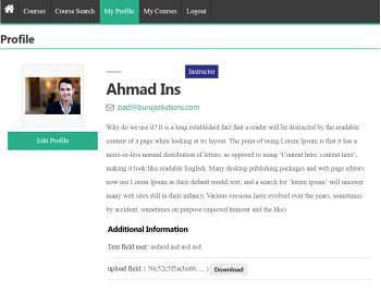 student profile view