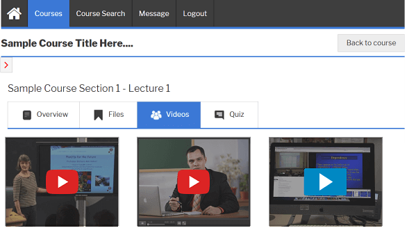 lecture view video