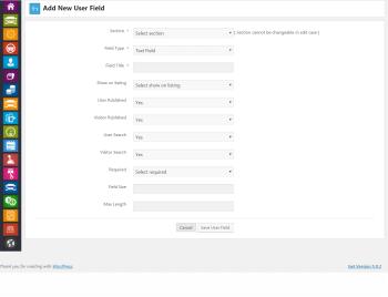 admin add user field