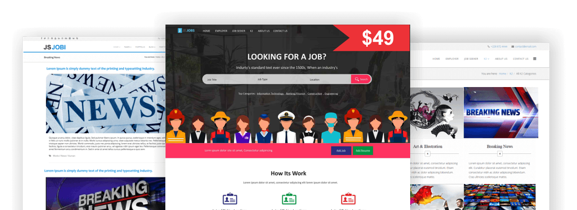 Jobi - JS Jobs (Joomla) Template